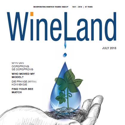 WineLand magazine July 2018